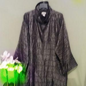 Silk kimono coat